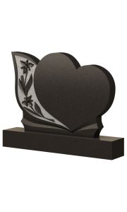 Памятник на могилу горизонтальный сердце